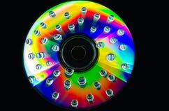 Close up das gotas da água em uma superfície colorido imagens de stock royalty free