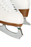 Close up das lâminas dos patins de gelo. imagens de stock