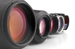 Close-up das lentes da foto Imagens de Stock Royalty Free