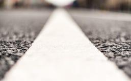 Close-up das marcações de estrada Fotos de Stock Royalty Free