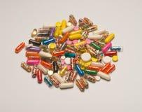 Close up das medicinas Imagens de Stock