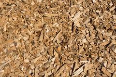 Close up das microplaquetas de madeira Imagem de Stock