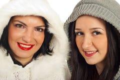 Close up das mulheres em capas de lã Imagens de Stock Royalty Free