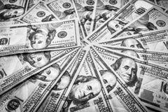 Close-up das notas de dólar Fotos de Stock Royalty Free