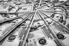 Close-up das notas de dólar Imagens de Stock