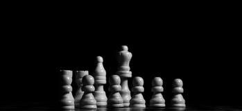 Close up das partes de xadrez na placa Imagens de Stock Royalty Free
