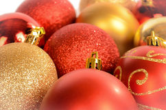 Close-up das quinquilharias do Natal Imagem de Stock
