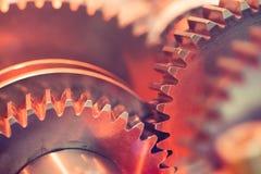 Close-up das rodas de engrenagem Fotografia de Stock