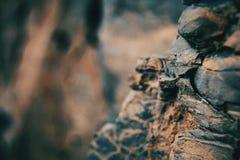 Close-up das texturas e de formas abstratas das pedras fotos de stock royalty free