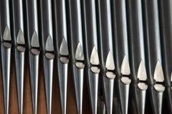 Close-up das tubulações de órgão fotografia de stock royalty free