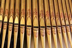 Close-up das tubulações de órgão imagens de stock royalty free