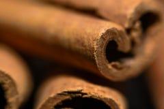Close-up das varas de canela foto de stock royalty free