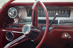 Close up on a dashboard of a vintage car royalty free stock photos
