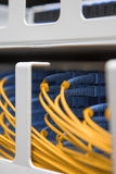 Close up, Data Center, cables and plugs Stock Photo