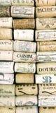 Close-up de achtergrond shotp wijn kurkt stock afbeeldingen
