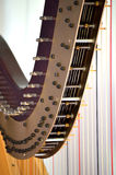 Close up de ajustamento dos mecanismos da harpa do pedal Imagens de Stock