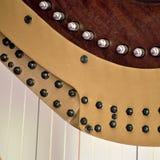 Close up de ajustamento dos mecanismos da harpa do pedal Fotos de Stock Royalty Free