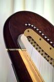Close up de ajustamento dos mecanismos do pescoço da harpa do pedal Imagens de Stock Royalty Free