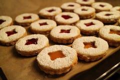 Close-up de biscoitos do Natal Foto de Stock Royalty Free