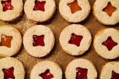 Close-up de biscoitos do Natal Fotografia de Stock Royalty Free