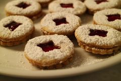 Close-up de biscoitos do Natal Foto de Stock