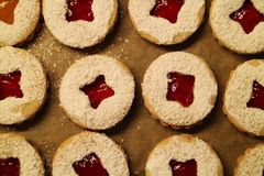 Close-up de biscoitos do Natal Imagens de Stock