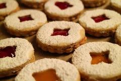 Close-up de biscoitos do Natal Fotos de Stock