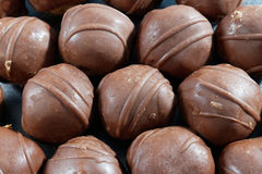 Close-up de bolas do chocolate Foto de Stock Royalty Free