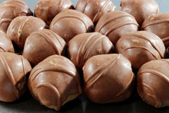 Close-up de bolas do chocolate Fotos de Stock Royalty Free