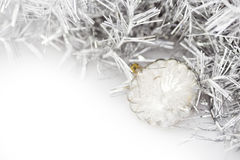 Close up de bolas transparentes do Natal Foto de Stock Royalty Free