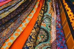 Close-up de cópias coloridas do boutique da forma dos acessórios dos laços dos homens imagem de stock royalty free