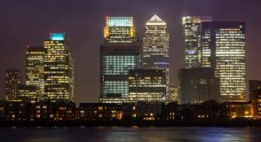 Close up de Canary Wharf Foto de Stock