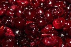 Close up de cerejas hulled imagem de stock