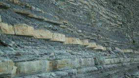 Close-up de Cliff Texture de pedra Landform de pedra Cliff Levels vídeos de arquivo
