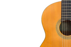 Close-up de cordas clássicas da guitarra Fotos de Stock