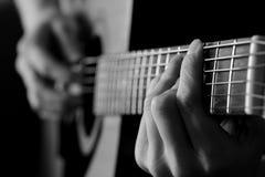 Close up de cordas da guitarra para a música Fotografia de Stock Royalty Free