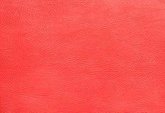 Close up de couro da textura do falso vermelho fotos de stock