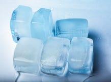Close-up de cubos de gelo Foto de Stock Royalty Free