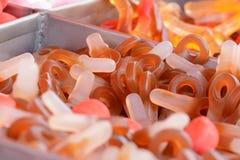 Close-up de doces alaranjados imagem de stock royalty free