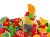 Close-up de doces coloridos Fotografia de Stock Royalty Free