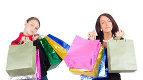 Close-up de duas meninas de compra Imagens de Stock