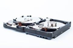 Close up de duas movimentações de disco rígido Imagem de Stock