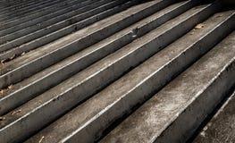 Close up de escadas cinzentas Fotografia de Stock Royalty Free