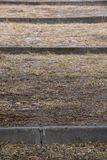 Close-up de etapas do cimento e da sujeira foto de stock royalty free