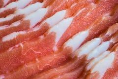 Close up de fatias da barriga de carne de porco Fotografia de Stock