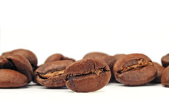 Close-up de feijões de café Foto de Stock
