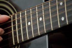 Close up de Fretboard da guitarra Imagem de Stock Royalty Free