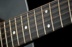 Close up de Fretboard da guitarra Foto de Stock