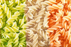 Close-up de Fusilli Imagens de Stock Royalty Free