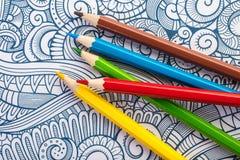 Close-up de madeira colorido dos lápis Imagens de Stock Royalty Free